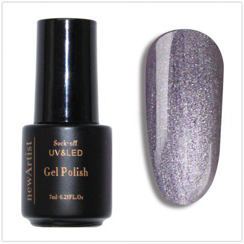 NewArtist Pur Couleur UV LED Nail Gel Polish Sliver Golden Brillant Série 30S Séchage Rapide Longue Sock Off 7Ml