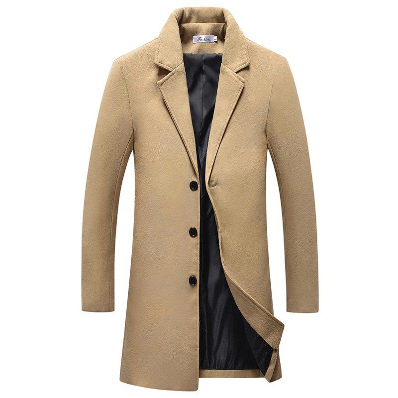 Fashion The New Winter Single Breasted Long Slim Men Thin Coat D167
