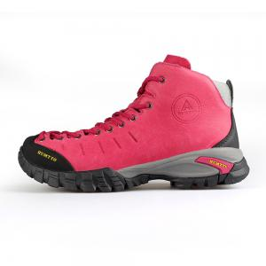 HUMTTO Women Hiking Shoes Walking Climbing Boots Leather Lace-up Sneakers -
