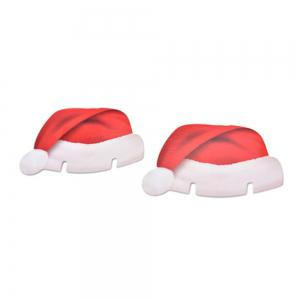 10 pcs Table Place Cards Christmas Santa Hat Wine Glass Decoration -