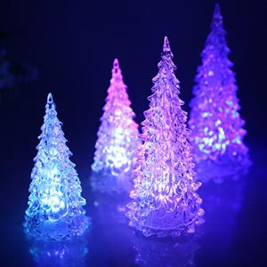 LED Colorful Lights Christmas Tree Home Holiday Decor Christmas Lamp For Festival Accessories -