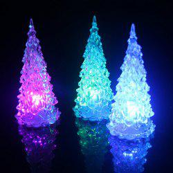 LED Colorful Lights Christmas Tree Home Holiday Decor Christmas Lamp For Festival Accessories - White