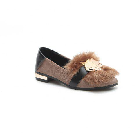 Online New Autumn Female All-Match Doug Winter Velvet Pedal Lazy Scoop Shoes