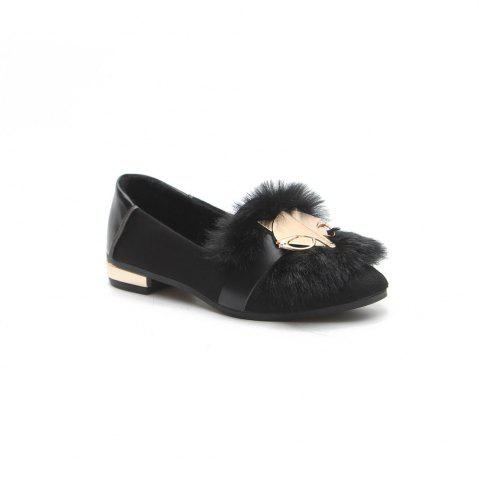 Chic New Autumn Female All-Match Doug Winter Velvet Pedal Lazy Scoop Shoes