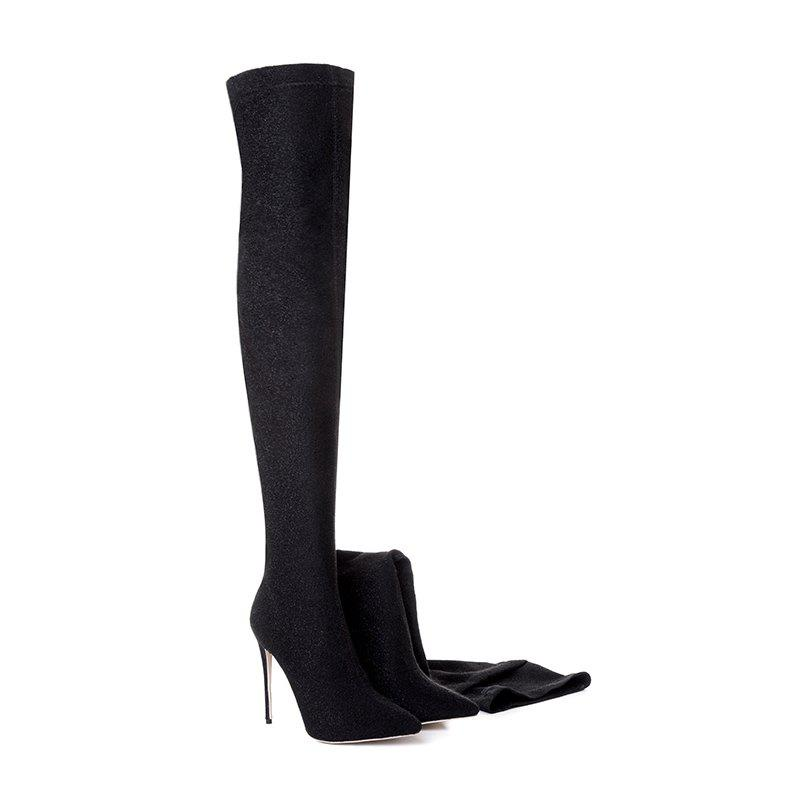 Latest Women'S Shoes Winter Fall Fashion Boots Pointed Toe Heel Knee High Boots