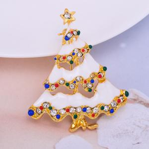 Christmas Brooch Christmas Tree Brooches Charm Rhinestone Brooch Pin for Women Cheap-Christmas-Ornament Christmas Gift -