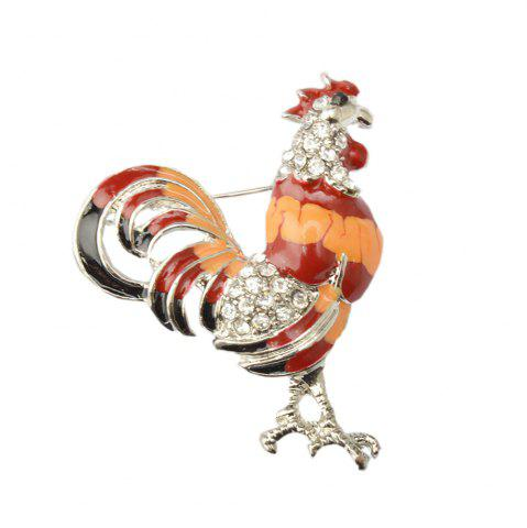 Shop Enameled and Crystal Rhinestones Chicken Rooster Fashion Brooch Pins for Women