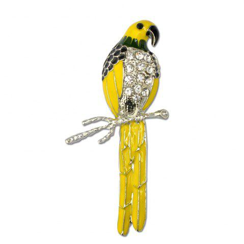 Trendy Cute Enamel Colorful Parrot Brooches for Women Fashion Rinestone Design Animal Brooch Pin