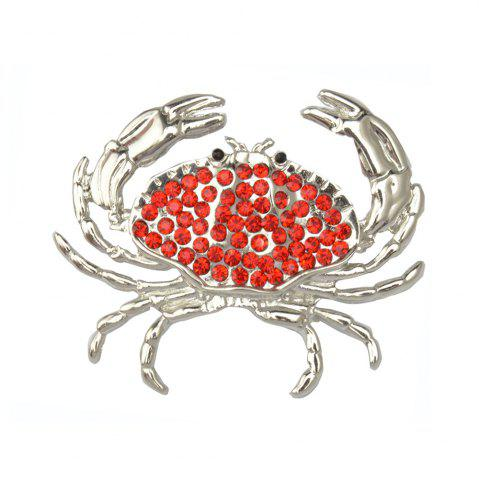 Latest Arrival Animal Brooch Pin Silver-color Sweater Collar Clip Bijouterie Enamel Lifelike Crabs Brooches For Women Shirt