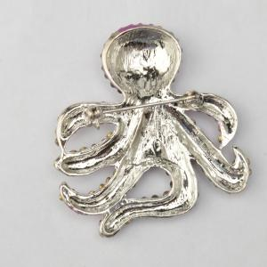 Vintage Antique Rinestone Alloy Brooches Women Kids Clothes Decoration Fish -