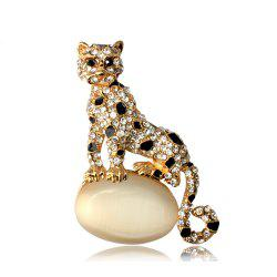 Opal Leopard Brooches for Man -