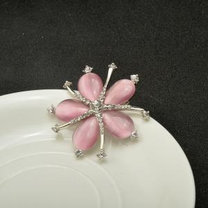Fashion Style Crystal Opal Diamante Starfish Party Brooch for Woman -