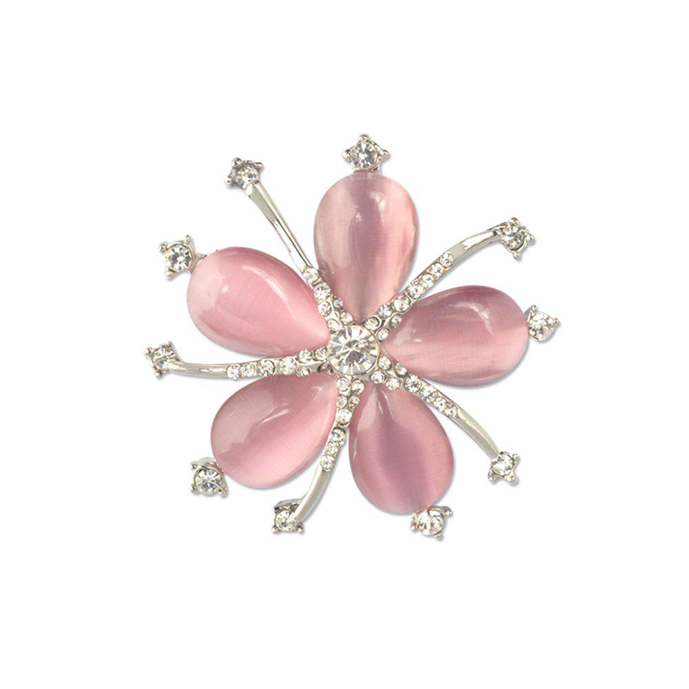 Fancy Fashion Style Crystal Opal Diamante Starfish Party Brooch for Woman
