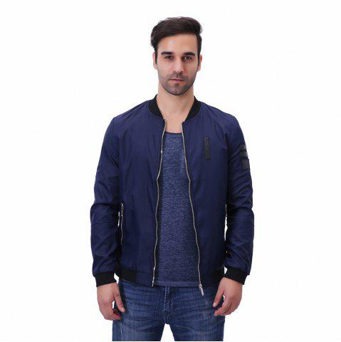 Chic Men'S Zipper Jacket Decorations