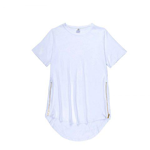 Hot Trend Hip Hop Pure Cotton Round Collar T-Shirt