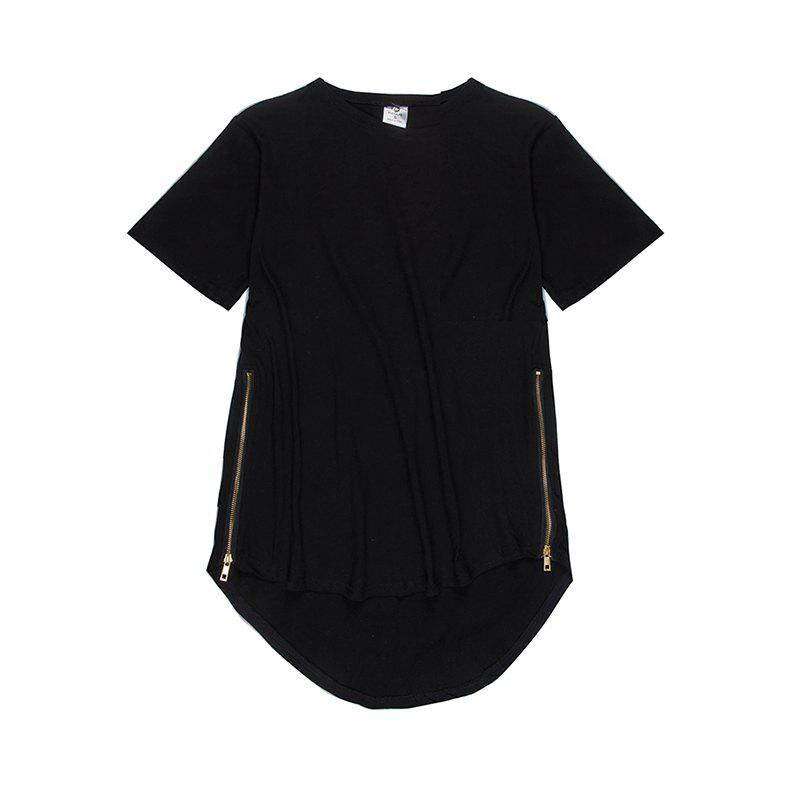 Affordable Trend Hip Hop Pure Cotton Round Collar T-Shirt