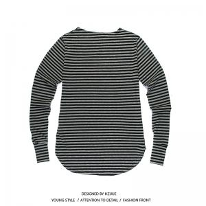 Men'S Striped Long-Sleeved T-Shirts -