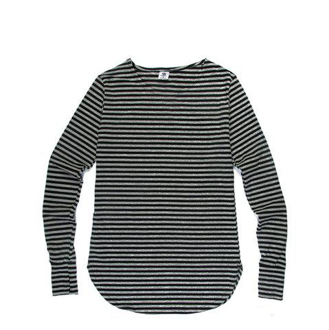 Discount Men'S Striped Long-Sleeved T-Shirts