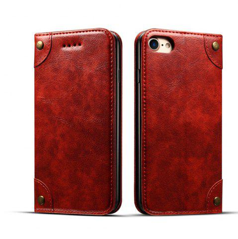 Fancy Baroque Texture Leather Flip Stand Wallet Case for iPhone 7 / 8
