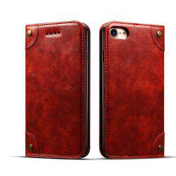 Baroque Texture Leather Flip Stand Wallet Case for iPhone 7 / 8 -