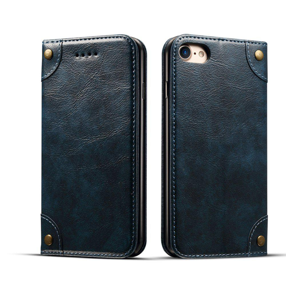 Store Baroque Texture Leather Flip Stand Wallet Case for iPhone 7 / 8