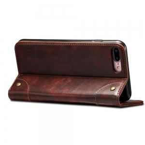 Baroque Texture Leather Flip Stand Wallet Case for iPhone 7 Plus / 8 Plus -