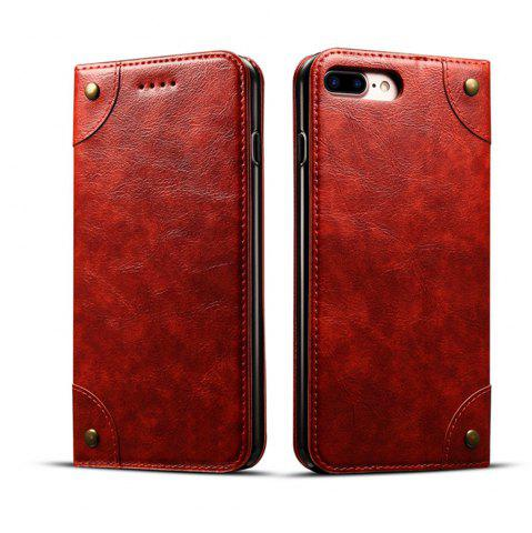 Store Baroque Texture Leather Flip Stand Wallet Case for iPhone 7 Plus / 8 Plus