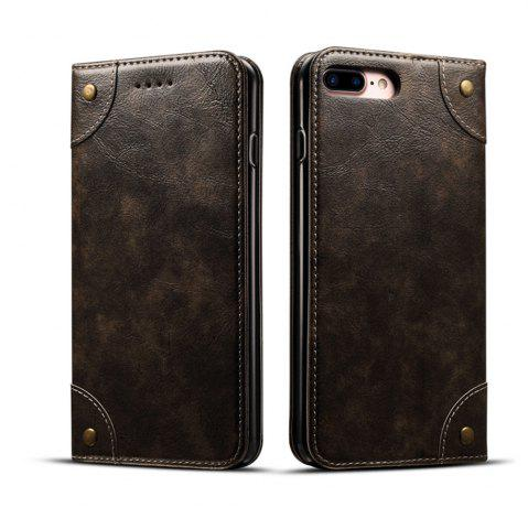 Buy Baroque Texture Leather Flip Stand Wallet Case for iPhone 7 Plus / 8 Plus