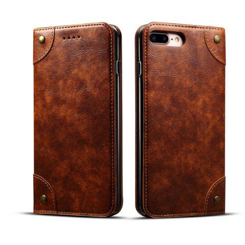 Hot Baroque Texture Leather Flip Stand Wallet Case for iPhone 7 Plus / 8 Plus