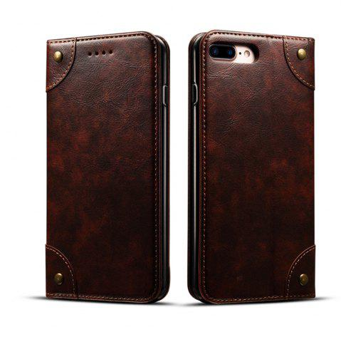 Latest Baroque Texture Leather Flip Stand Wallet Case for iPhone 7 Plus / 8 Plus