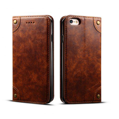 Trendy Baroque Texture Leather Flip Stand Wallet Case for iphone 6 Plus / 6s Plus