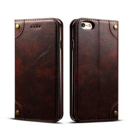 Best Baroque Texture Leather Flip Stand Wallet Case for iphone 6 Plus / 6s Plus