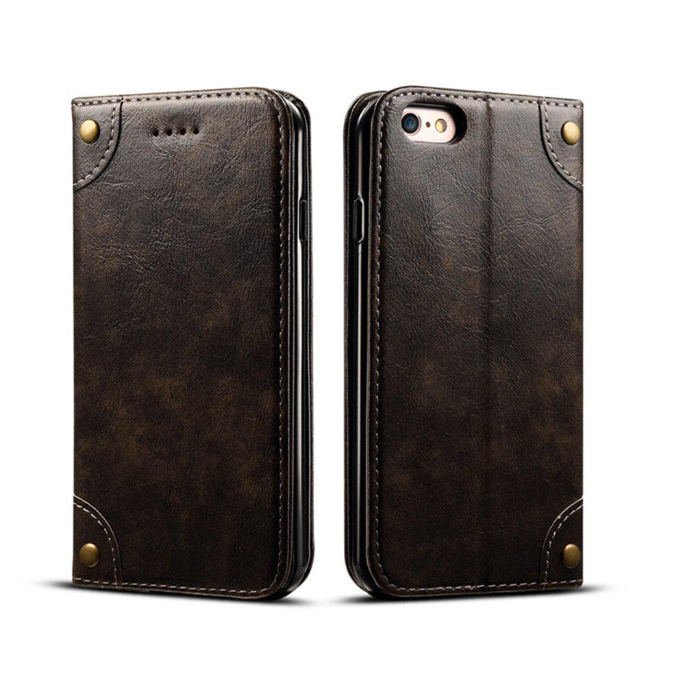 Hot Baroque Texture Leather Flip Stand Wallet Case for iphone 6 Plus / 6s Plus