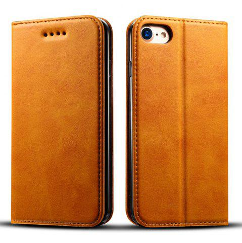 Online Magnetic Closure Cow Leather Case with Card Slots and Kickstand for iPhone 7 / 8