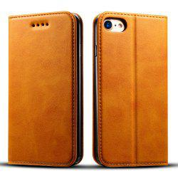 Magnetic Closure Cow Leather Case with Card Slots and Kickstand for iPhone 7 / 8 -