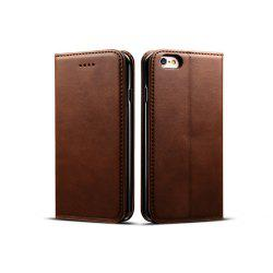 Magnetic Closure Cow Leather Case with Card Slots and Kickstand for iPhone 6 Plus / 6s Plus -