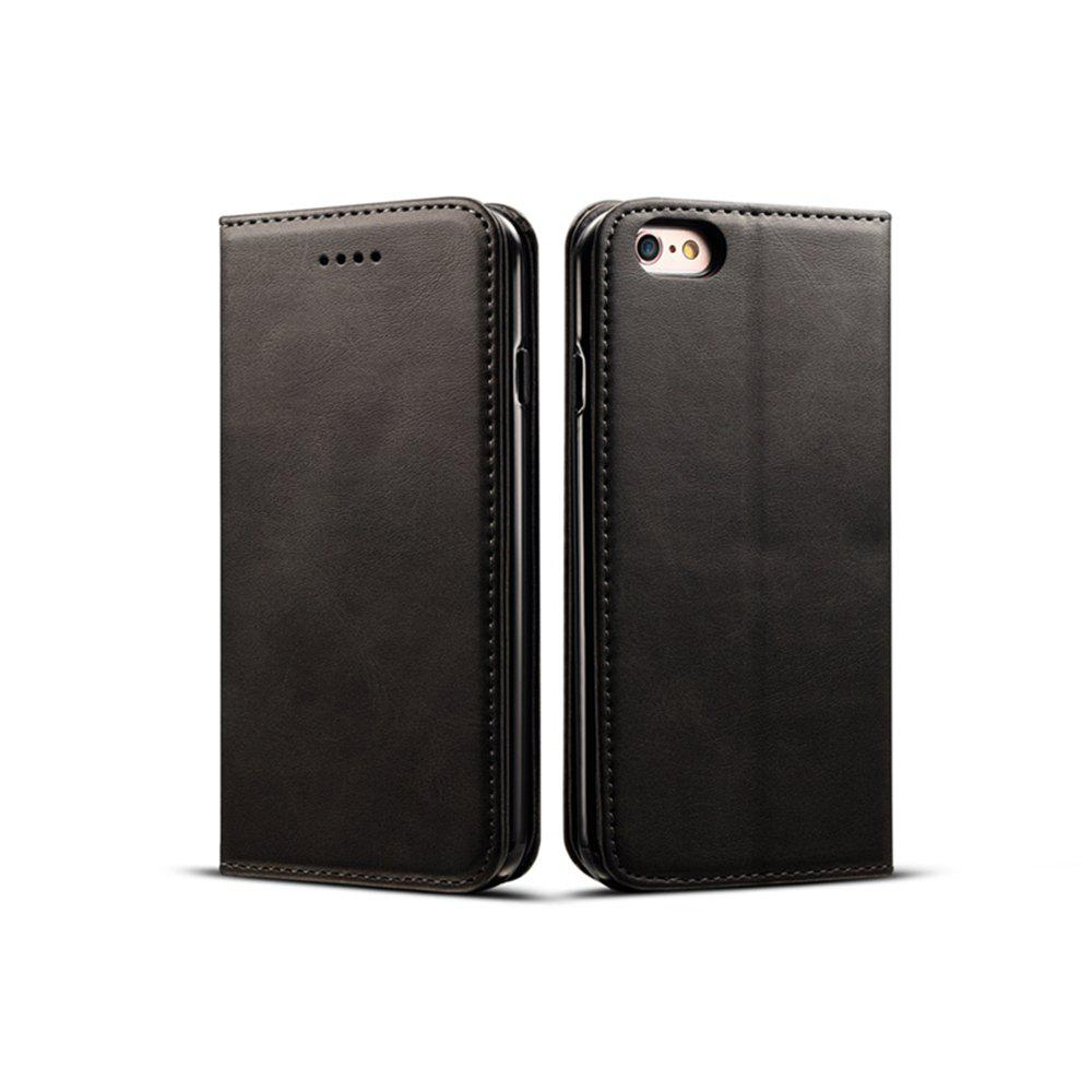 New Magnetic Closure Cow Leather Case with Card Slots and Kickstand for iPhone 6 Plus / 6s Plus