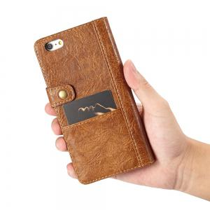 CaseMe Cracked Effect Premium Leather Pouch Case with Kickstand Card Slots for iPhone 6 / 6s -