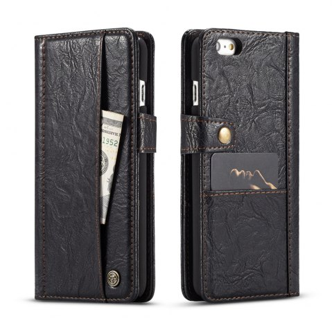 Hot CaseMe Cracked Effect Premium Leather Pouch Case with Kickstand Card Slots for iPhone 6 / 6s