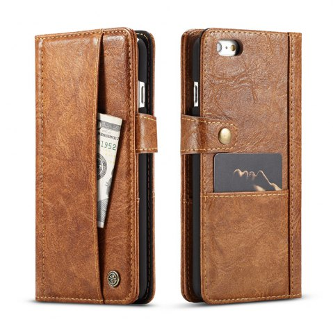 Fancy CaseMe Cracked Effect Premium Leather Pouch Case with Kickstand Card Slots for iPhone 6 / 6s
