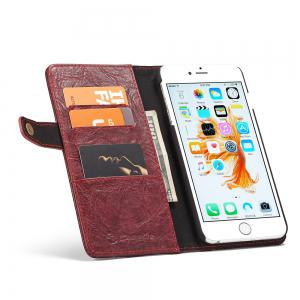 CaseMe Cracked Effect Premium Leather Pouch Case with Kickstand Card Slots for iPhone 6 Plus / 6s Plus -