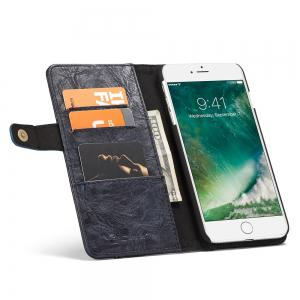 CaseMe Cracked Effect Premium Leather Pouch Case with Kickstand Card Slots for iPhone 7 Plus / 8 Plus -