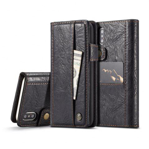 Outfits CaseMe Cracked Effect Premium Leather Pouch Case with Kickstand Card Slots for iPhone X