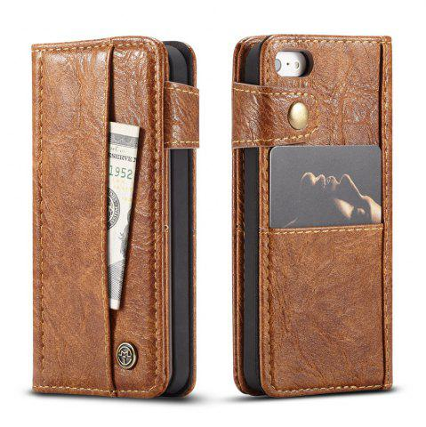 Sale CaseMe Cracked Effect Premium Leather Pouch Case with Kickstand Card Slots for iPhone 5 / 5s / SE
