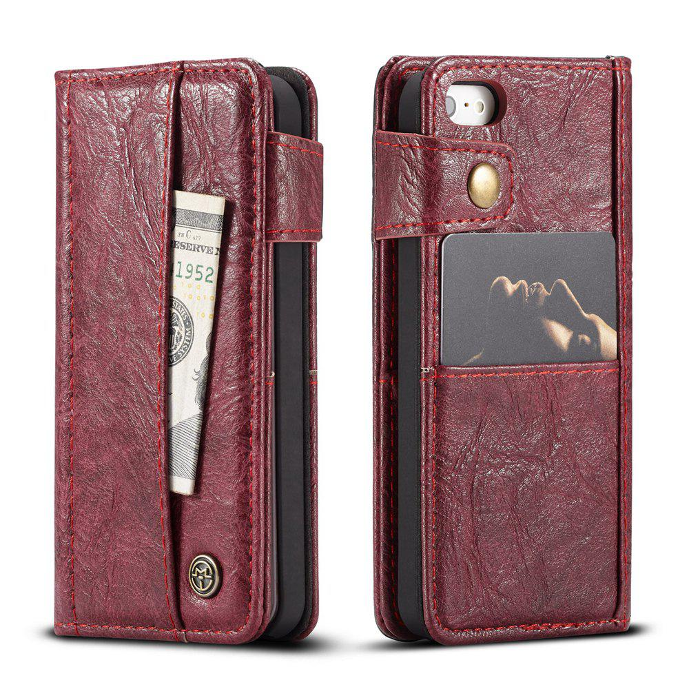 Discount CaseMe Cracked Effect Premium Leather Pouch Case with Kickstand Card Slots for iPhone 5 / 5s / SE