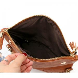 Women Messenger Bag Tassel Fold Cover Sling Girl Shoulder Crossbody Bag Envelope Bolsas Ladies Handbag Clutches -