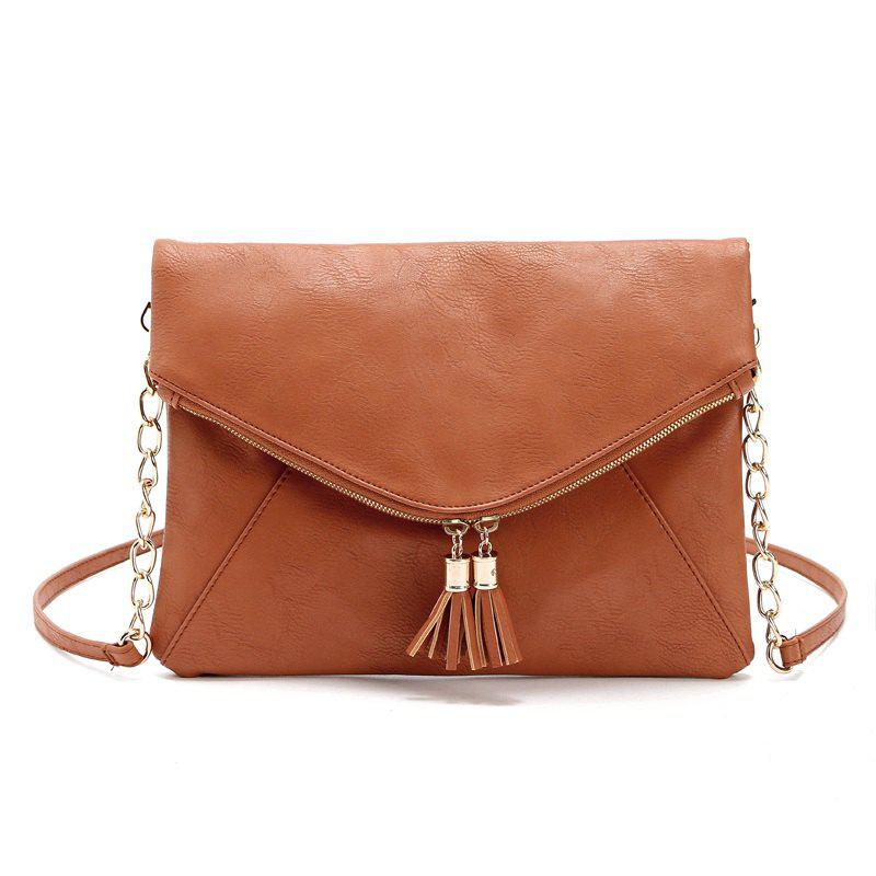 Best Women Messenger Bag Tassel Fold Cover Sling Girl Shoulder Crossbody Bag Envelope Bolsas Ladies Handbag Clutches