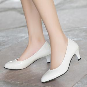 Women Spring Single Simple OL Sexy Pointed Thin Fine Low Heel Shoes -