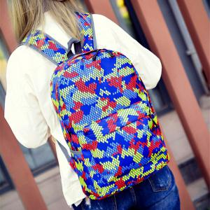 Fashion Hongjing Matching Color Casual Sporting Backpack -