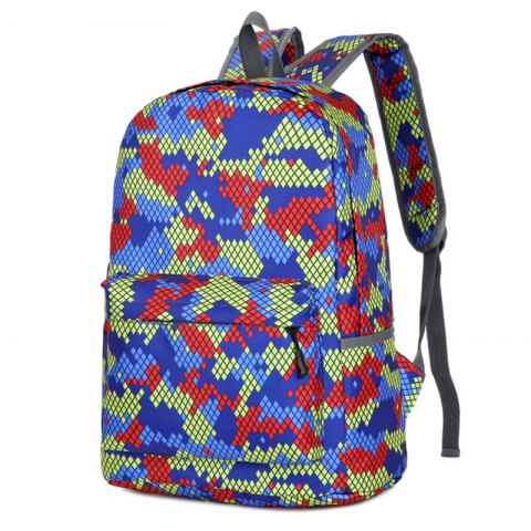 Unique Fashion Hongjing Matching Color Casual Sporting Backpack